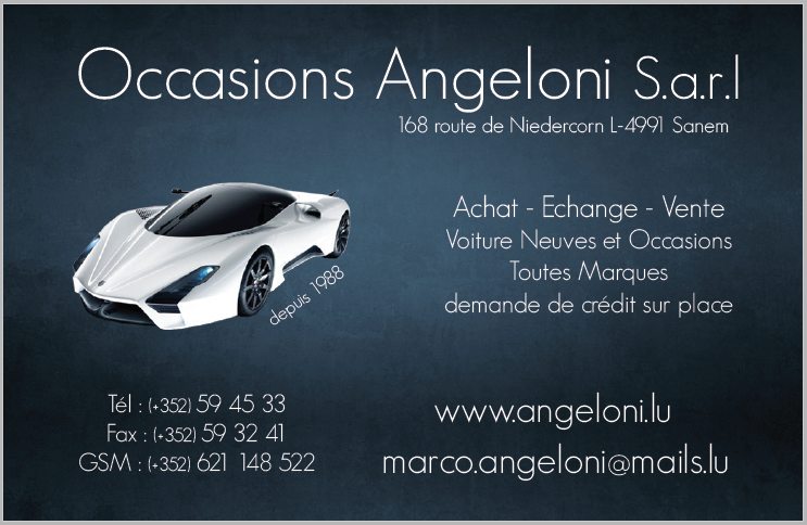 carte de visite occasions angeloni cs burocs buro. Black Bedroom Furniture Sets. Home Design Ideas