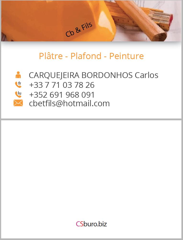 Carte De Visite CB Et Fils