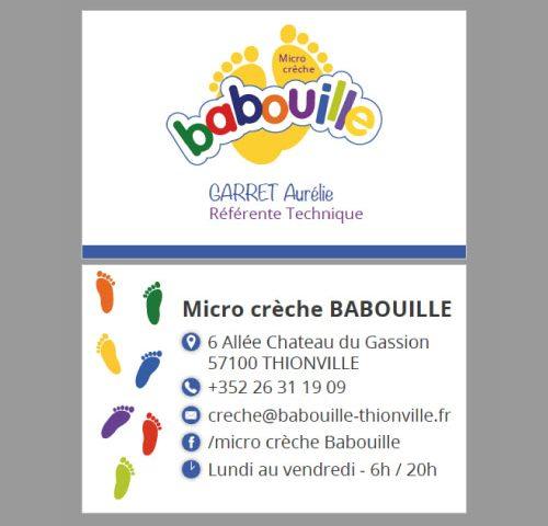 Carte De Visite Micro Creche Babouille Thionville